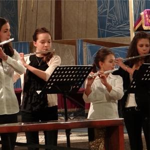Die jungen Musikerinnen zeigten beim Weihnachtskonzert ihr ganzes K&oumlnnen. Foto: R&oumlttenbacher